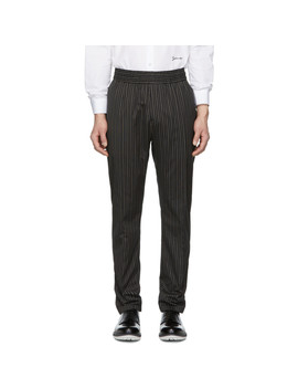 Black Stripe Trousers by Givenchy