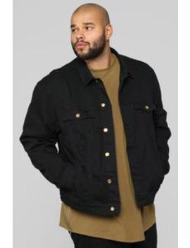 Rusty Denim Jacket   Black by Fashion Nova