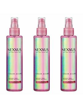 Lot Of 3 Bottles Nexxus Color Assure Glossing Tonic, Shine Enhance 6.1 Oz/Each by Nexxus