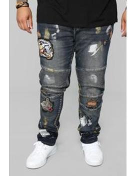 Gwen Moto Jeans   Vintage Wash by Fashion Nova