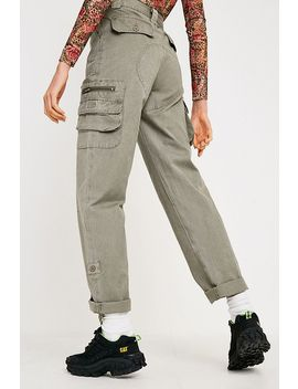 Urban Renewal Vintage Beige Cargo Trousers by Urban Renewal
