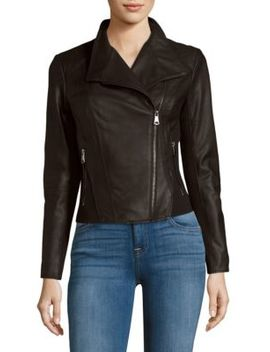 Felix Leather Moto Jacket by Marc New York By Andrew Marc