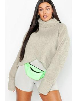 Plus Turtle Neck Teddy Sweater by Boohoo