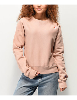 Champion Reverse Weave Tinted Tan Crew Neck Sweatshirt by Champion