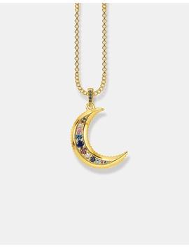 Kingdom Of Dreams Moon Gold Necklace by Thomas Sabo
