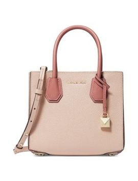 Mercer Leather Messenger Satchel by Michael Michael Kors
