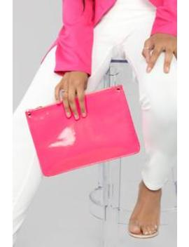 Still Holding On Clutch   Neon Pink by Fashion Nova