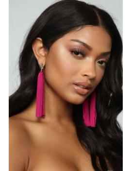 Trying To Post Earrings   Hot Pink by Fashion Nova