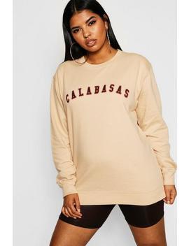 Plus Calabasas Slogan Sweat by Boohoo