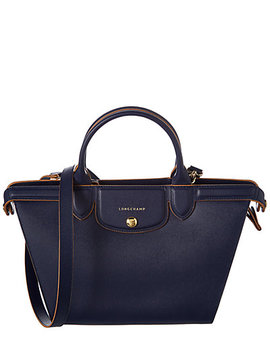 Longchamp Le Pliage Héritage Medium Leather Top Handle Tote by Longchamp
