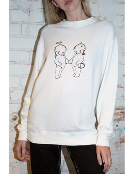 Erica Angel And Devil Baby Sweatshirt by Brandy Melville