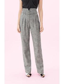 Belted Plaid Pant by Rebecca Taylor
