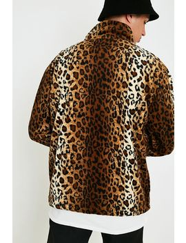 Black Mountain Apparel Leopard Print Fleece Jacket by Black Mountain Apparel