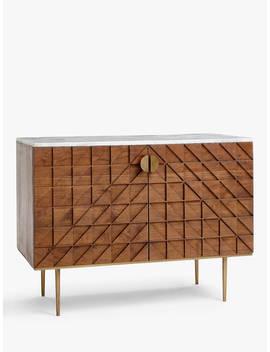 John Lewis & Partners Trinity Marble Sideboard, Brown by John Lewis & Partners