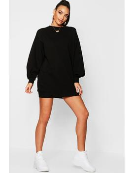 The Perfect Oversized Volume Sleeve Sweat Dress by Boohoo