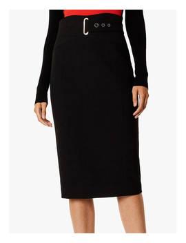Karen Millen Belted Pencil Skirt, Black by Karen Millen