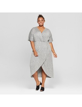 Women's Plus Size Twist Front Midi Dress   Ava & Viv™ by Ava & Viv