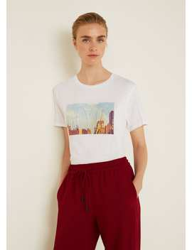 T Shirt Mensagem Textura by Mango