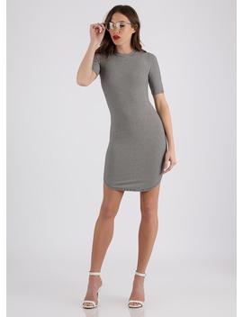 Too Easy Striped Round Hem Dress by Go Jane
