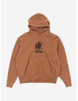C.E Cav Empt Globe Heavy Hooded Sweatshirt   Brown by Cav Empt