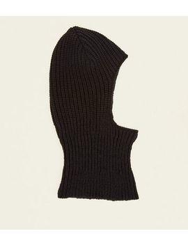Black Ribbed Knit Balaclava by New Look