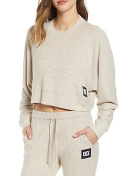 Contrast Rib Crop Lounge Sweatshirt by Ivy Park®