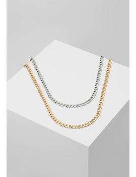 Smooth Chain Necklace 2 Pack Set   Annet by Burton Menswear London