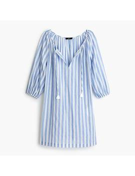 Tassel Tie Beach Tunic In Asymmetric Stripe by J.Crew