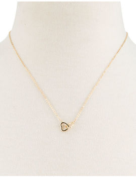 Full Tilt Double Heart Dainty Necklace by Full Tilt