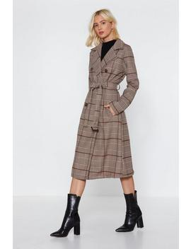 Check Belted Trench by Nasty Gal