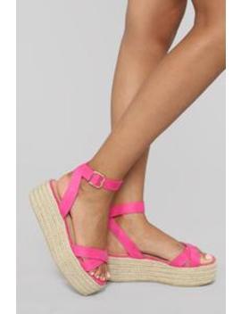 Bad Liar Flat Sandals   Fuchsia by Fashion Nova