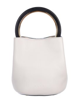 Pannier Leather Bucket Bag by Marni