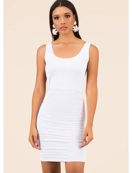 Out In The Open Back Ruched Minidress by Go Jane