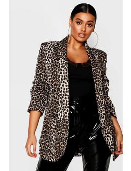 Plus Leopard Tailored Blazer by Boohoo