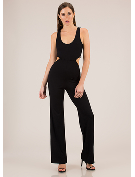 Serious Style Cut Out Wide Leg Jumpsuit by Go Jane