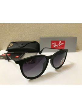 Ray Ban Sunglasses Erika Polarized Matte Black Frame W/Grey Gradient 54 M. by Ray Ban