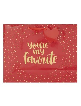 Way To Celebrate Valentine's Day Gift Bag, Large, You're My Favorite by Way To Celebrate