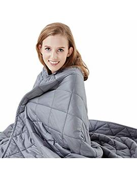 """Hypnoser Weighted Blanket  2.0 Weighted Blanket  Stress Relief Blanket For Insomnia, Adhd And Ptsd  For 100 150lb Person  Sleep Aid And Stress Relief Weighted Blanket (Inner Layer Dark Grey, 48""""X72"""" 15 Lbs) by Amazon"""