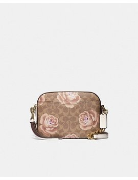 Camera Bag In Signature Rose Print by Coach