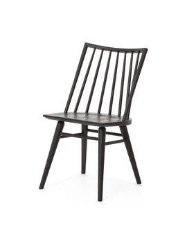 Lewis Black Oak Windsor Dining Chair by Crate&Barrel