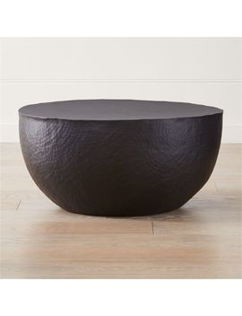 Fernando Metal Drum Coffee Table by Crate&Barrel