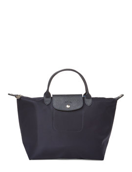 Navy Le Pliage Neo Satchel by Longchamp