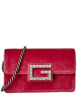 Gucci Square G Velvet Shoulder Bag by Gucci