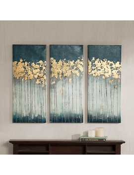 Gold Midnight Forest Canvas Art Prints, Set Of 3 by Kirkland's