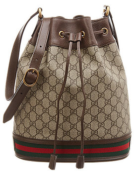 Gucci Ophidia Gg Leather Bucket Bag by Gucci