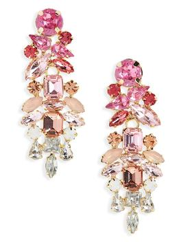 Mini Dynasty Crystal Drop Earrings by Stella + Ruby