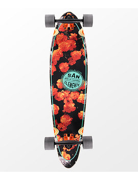 "San Clemente Orange Blossom 36"" Longboard Complete by San Clemente Skate Co"