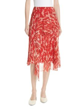 Print Clip Dot Asymmetrical Skirt by Grey Jason Wu