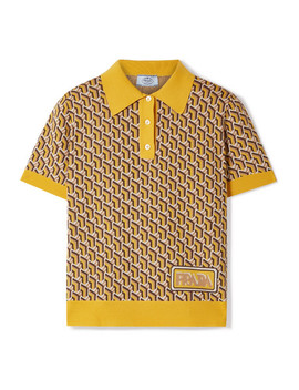 Intarsia Silk Polo Shirt by Prada