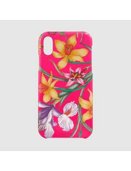 I Phone X/Xs Case With Flora Print by Gucci